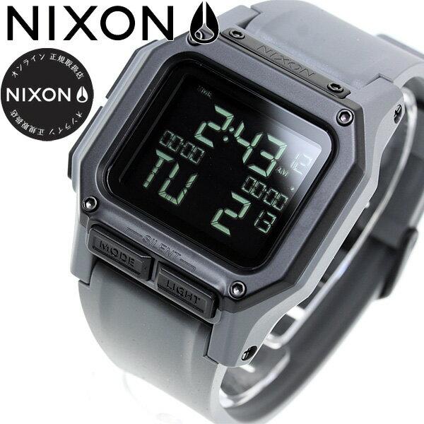 【今だけ!最大2000円OFFクーポン付!26日9時59分まで】ニクソン NIXON レグルス REGULUS 腕時計 メンズ ALL GUNMETAL NA1180632-00【2018 新作】