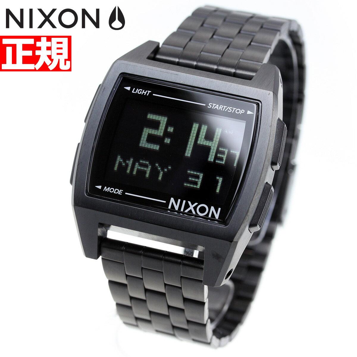 8月15日限定!最大2000円OFFクーポン配布中♪15日0時から16日9時59分まで! ニクソン NIXON ベース BASE 腕時計 レディース オールブラック NA1107001-00