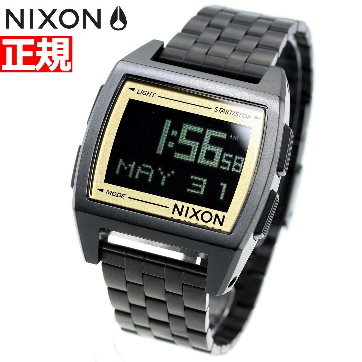 ポイント最大37倍!21日1時59分まで! ニクソン NIXON ベース BASE 腕時計 メンズ レディース ALL BLACK/GOLD NA11071031-00【2018 新作】【あす楽対応】【即納可】