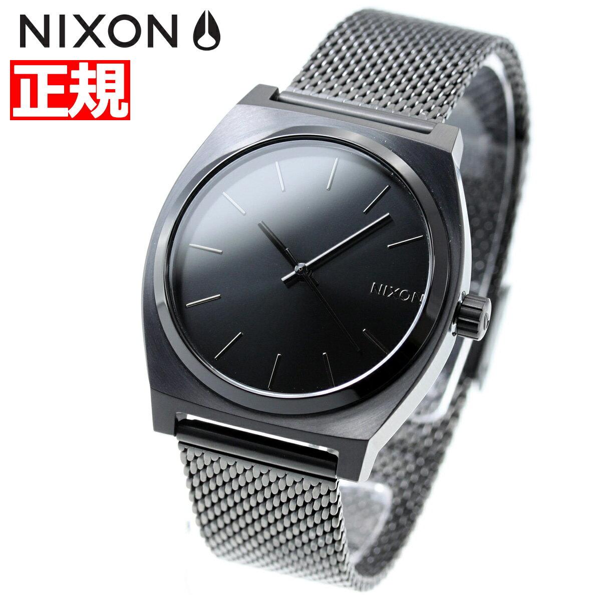 ニクソン NIXON タイムテラー ミラネーゼ TIME TELLER MILANESE 腕時計 レディース オールブラック NA1187001-00