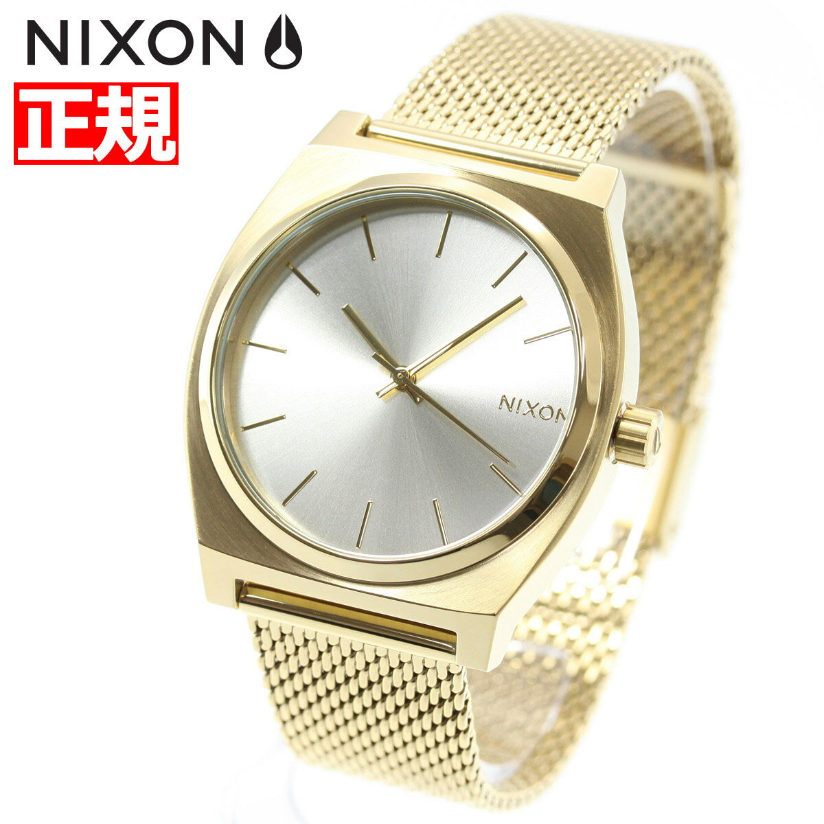 ニクソン NIXON タイムテラー ミラネーゼ TIME TELLER MILANESE 腕時計 レディース オールゴールド/クリーム NA11872807-00