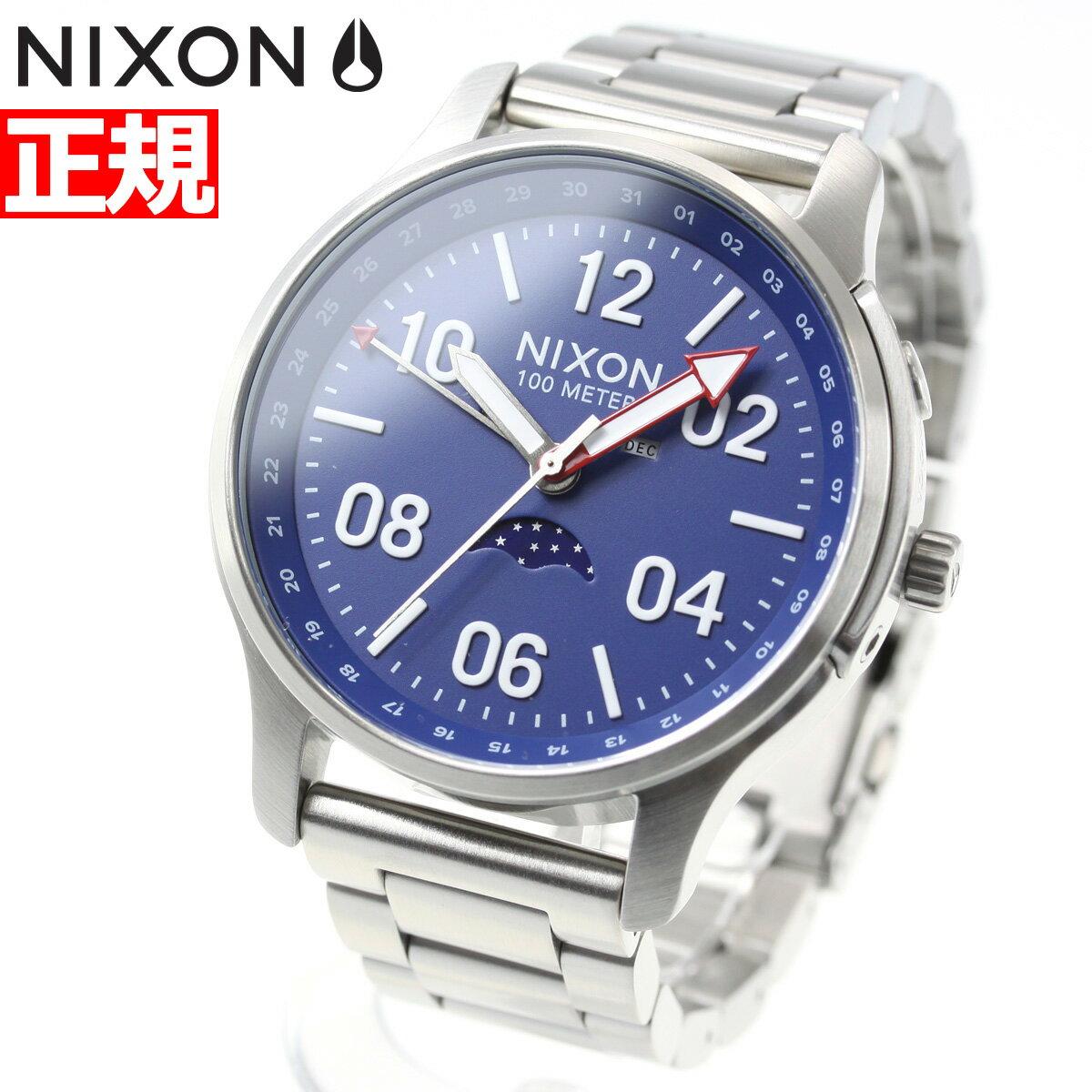 先着!最大9万円OFFクーポン!+ポイント最大33倍は17日9時59分まで!ニクソン NIXON アセンダー ASCENDER 腕時計 メンズ SILVER/BLUE NA1208722-00【2018 新作】