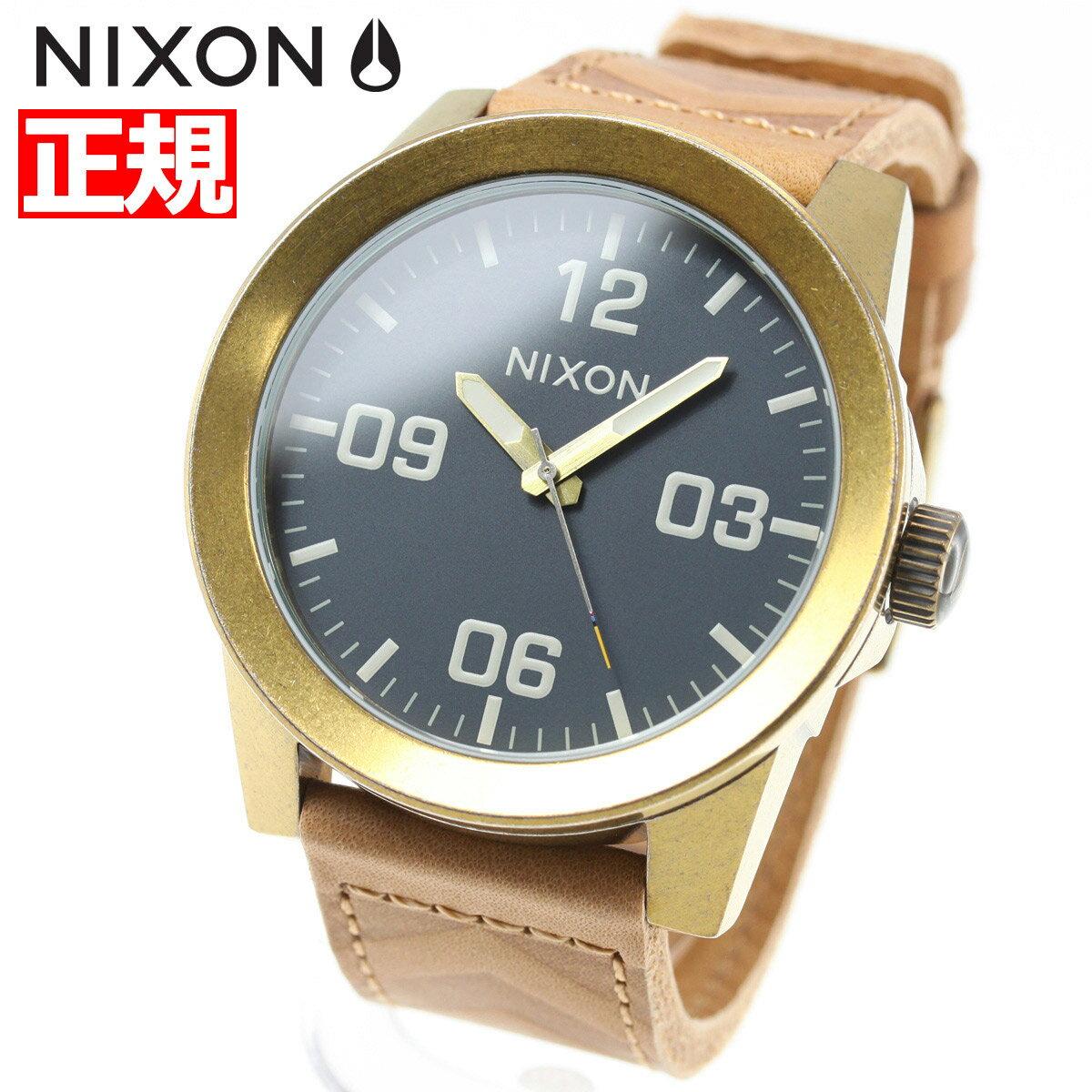 先着!最大9万円OFFクーポン付!+ポイント最大35倍は15日23時59分まで!ニクソン NIXON コーポラル CORPORAL 腕時計 メンズ ブラス/ネイビー/ヒッコリー NA2432731-00