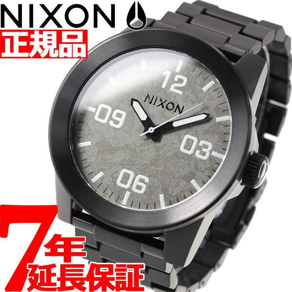 先着!最大9万円OFFクーポン付!+ポイント最大35倍は15日23時59分まで!ニクソン NIXON コーポラルSS CORPORAL SS 腕時計 メンズ ブラック/コンクリート NA3462687-00