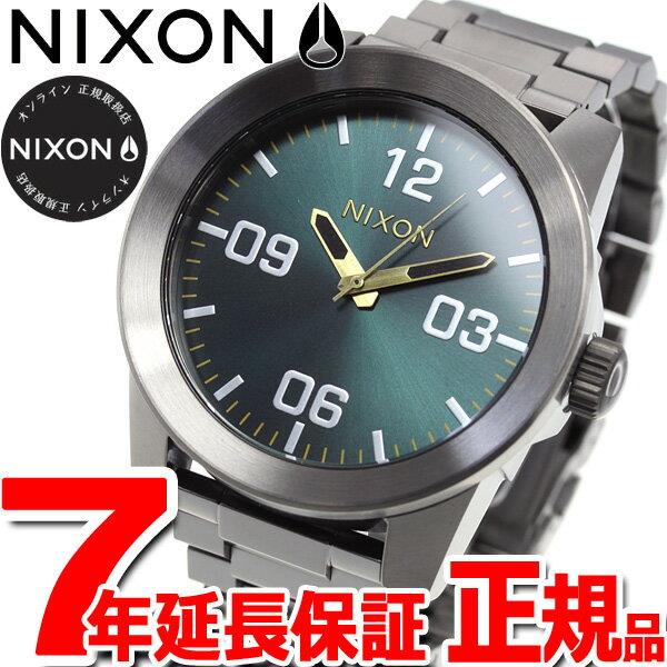 先着!最大9万円OFFクーポン付!+ポイント最大35倍は15日23時59分まで!ニクソン NIXON コーポラルSS CORPORAL SS 腕時計 メンズ ガンメタル/スプルース/ブラス NA3462789-00