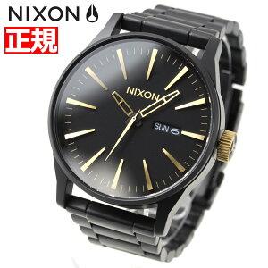 ニクソンNIXONセントリーSSSENTRYSS腕時計メンズマットブラック/ゴールドNA3561041-00【2017新作】