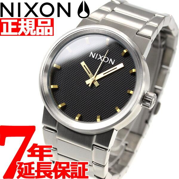 先着!最大9万円OFFクーポン付!+ポイント最大35倍は15日23時59分まで!ニクソン NIXON キャノン CANNON 腕時計 メンズ ブラックスタンプ/ゴールド NA1602730-00