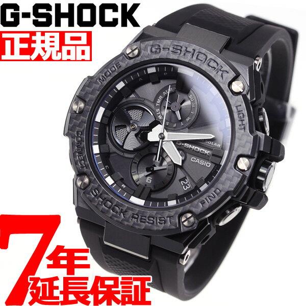 【本日限定!ポイント最大39倍!さらに最大1万円OFFクーポン配布!25日23時59分まで!】G-SHOCK G-STEEL カシオ Gショック Gスチール CASIO Carbon Edition ソーラー 腕時計 メンズ タフソーラー GST-B100X-1AJF