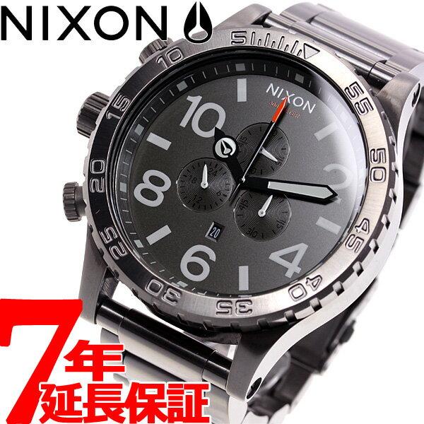 本日ポイント最大37倍!26日1時59分まで!ニクソン NIXON 51-30 クロノ CHRONO 腕時計 メンズ クロノグラフ オールガンメタル/スレート/オレンジ NA0832947-00【2018 新作】