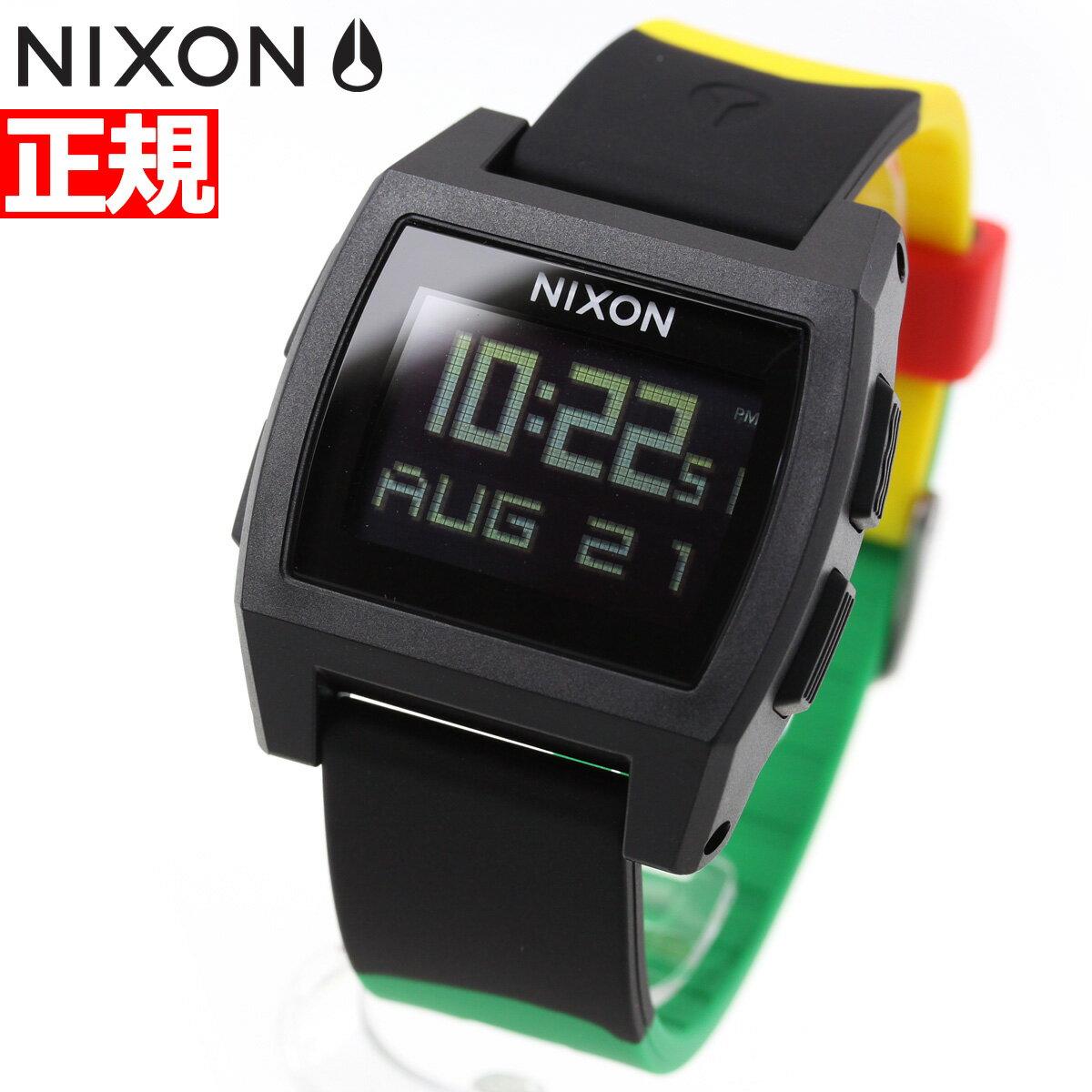 本日ポイント最大37倍!26日1時59分まで!ニクソン NIXON ベースタイド BASE TIDE 腕時計 メンズ レディース ラスタ NA11041114-00【2018 新作】
