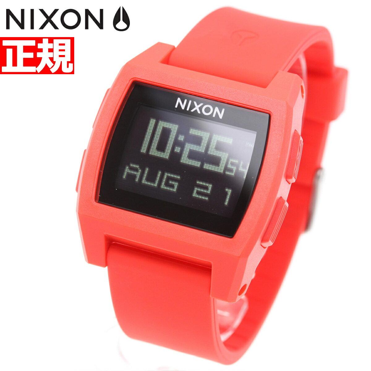 本日ポイント最大37倍!26日1時59分まで!ニクソン NIXON ベースタイド BASE TIDE 腕時計 メンズ レディース レッド NA1104200-00【2018 新作】