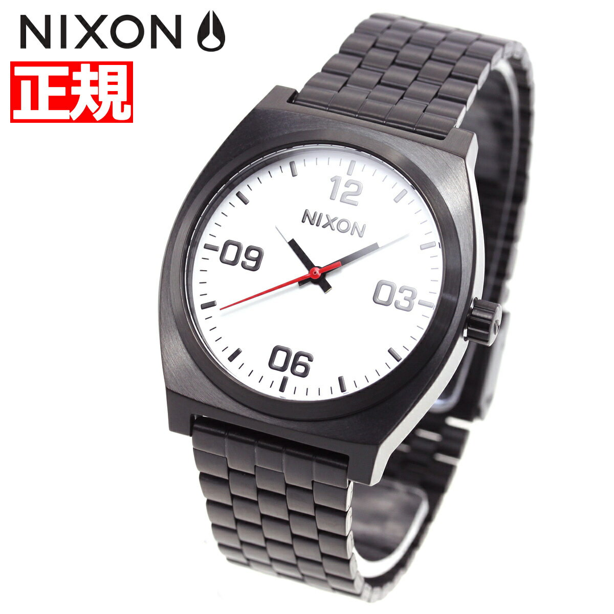 ニクソン NIXON タイムテラー コープ TIME TELLER CORP 腕時計 メンズ レディース ブラック/ホワイト NA1247005-00【2018 新作】