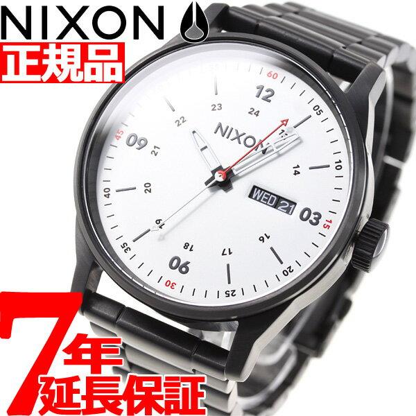 先着!最大9万円OFFクーポン付!+ポイント最大35倍は15日23時59分まで!ニクソン NIXON セントリーSS SENTRY SS 腕時計 メンズ ブラック/ホワイト NA356005-00【2018 新作】