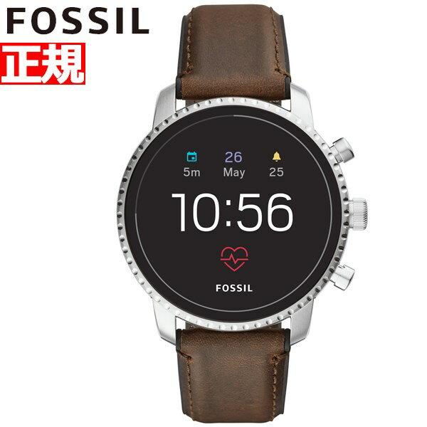 先着!クーポンで最大3万円+10%OFF!&ポイント最大39倍!本日限定!20日23時59分まで!フォッシル FOSSIL Q スマートウォッチ ウェアラブル 腕時計 メンズ エクスプローリスト Q EXPLORIST FTW4015【2018 新作】