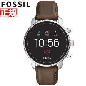明日0時からはニールがお得♪店内ポイント最大55倍!フォッシル FOSSIL Q スマートウォッチ ウェアラブル 腕時計 メンズ エクスプローリスト Q EXPLORIST FTW4015【2018 新作】