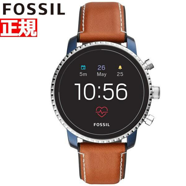 先着!クーポンで最大3万円+10%OFF!&ポイント最大39倍!本日限定!20日23時59分まで!フォッシル FOSSIL Q スマートウォッチ ウェアラブル 腕時計 メンズ エクスプローリスト Q EXPLORIST FTW4016【2018 新作】