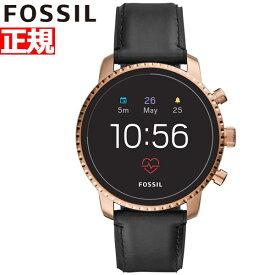 明日0時からはニールがお得♪店内ポイント最大55倍!フォッシル FOSSIL Q スマートウォッチ ウェアラブル 腕時計 メンズ エクスプローリスト Q EXPLORIST FTW4017【2018 新作】