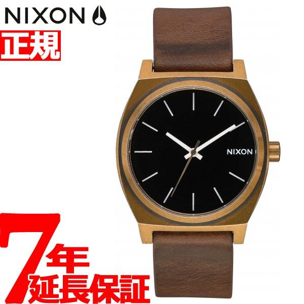 【エントリーでポイント10倍は20日20時から♪さらに25日は最大200円OFFクーポンも!】ニクソン NIXON タイムテラー TIME TELLER 腕時計 メンズ レディース BRASS / BLACK / BROWN NA0453053-00【2018 新作】