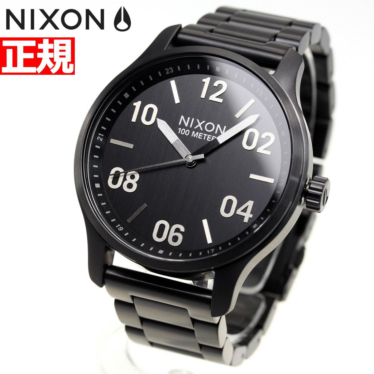 先着!最大9万円OFFクーポン付!+ポイント最大35倍は15日23時59分まで!ニクソン NIXON パトロール PATROL 腕時計 メンズ ブラック/シルバー NA1242180-00【2018 新作】