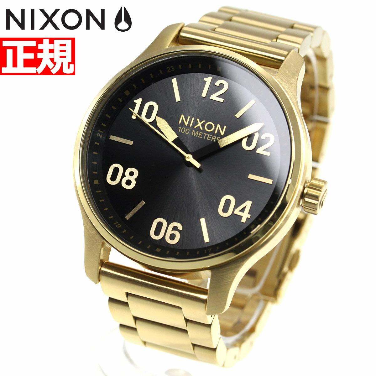 ニクソン NIXON パトロール PATROL 腕時計 メンズ ゴールド/ブラック NA1242513-00【2018 新作】