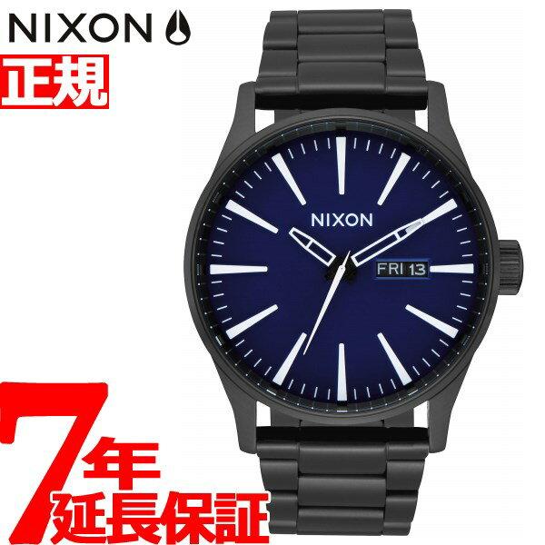先着!最大9万円OFFクーポン!+ポイント最大33倍は17日9時59分まで!ニクソン NIXON セントリーSS SENTRY SS 腕時計 メンズ ALL BLACK / DARK BLUE NA3562668-00【2018 新作】