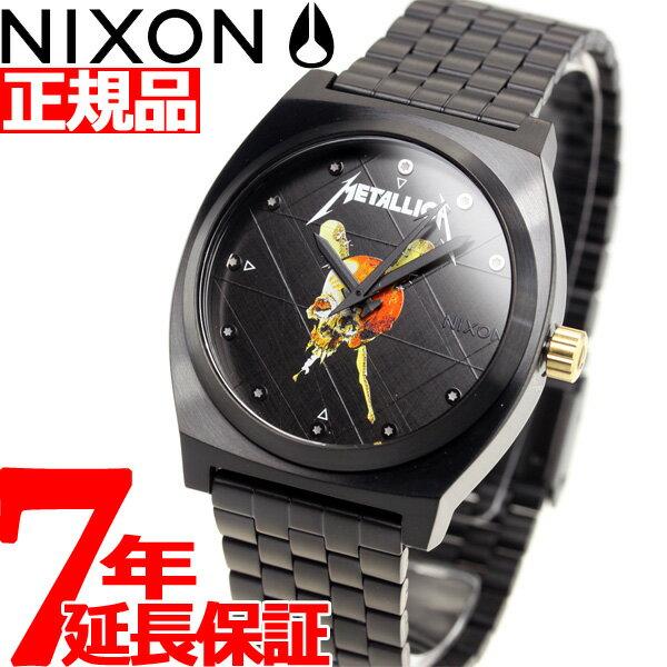 ニクソン NIXON タイムテラー TIME TELLER メタリカ コラボ 限定モデル 腕時計 メンズ BLACK / PUSHEAD METALLICA NA0453108-00【2018 新作】