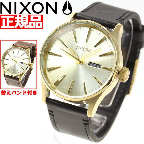 【今だけ!お得な最大1万円OFFクーポン配布中】ニクソン NIXON セントリー パック SENTRY PACK 腕時計 メンズ オールゴールド/ブラック/ブラウン NA11382591-00