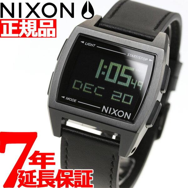 【今だけ!最大2000円OFFクーポン付!26日9時59分まで】ニクソン NIXON ベース レザー BASE LEATHER 腕時計 メンズ/レディース オールブラック NA1181001-00