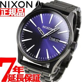 【25日0時〜♪店内ポイント最大51倍!25日23時59分まで】【最大1万円OFFクーポン!24日23時59分まで】ニクソン NIXON セントリーSS SENTRY SS 腕時計 メンズ ALL BLACK / DARK BLUE NA3562668-00
