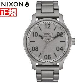 【最大1万円OFFクーポン!24日23時59分まで】ニクソン NIXON パトロール PATROL 腕時計 メンズ ダークスティール NA12423166-00