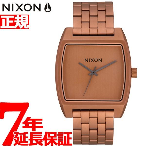 【SHOP OF THE YEAR 2018 受賞】ニクソン NIXON タイムトラッカー TIME TRACKER 腕時計 メンズ レディース マットコッパー/ガンメタル NA12453165-00【2019 新作】