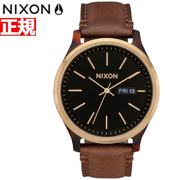 【今だけ!お得な最大1万円OFFクーポン配布中】ニクソン NIXON セントリー リュクス SENTRY LUXE 腕時計 メンズ トートイズ/ゴールド/ブラウン NA12633167-00【2019 新作】