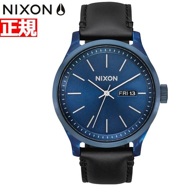 【今だけ!お得な最大1万円OFFクーポン配布中】ニクソン NIXON セントリー リュクス SENTRY LUXE 腕時計 メンズ ブルーアセテート/ブラック NA12633168-00【2019 新作】