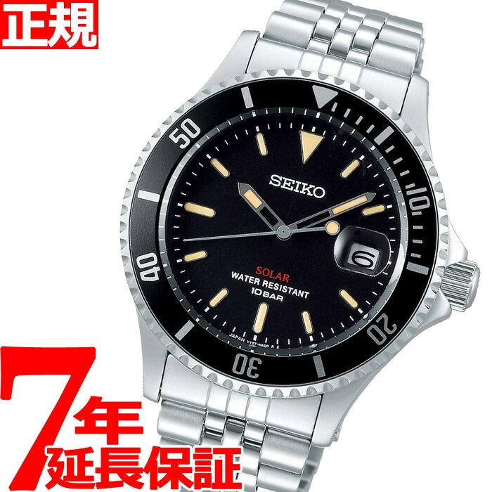【店内ポイント最大35倍】セイコー ソーラー SEIKO SOLAR ショップ限定モデル ヴィンテージデザイン 腕時計 メンズ SZEV012【2020 新作】