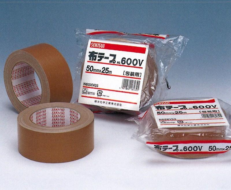【積水化学工業】 セキスイ 布テープ No.600V ダンボール色 (18巻入り) 100mmx25m
