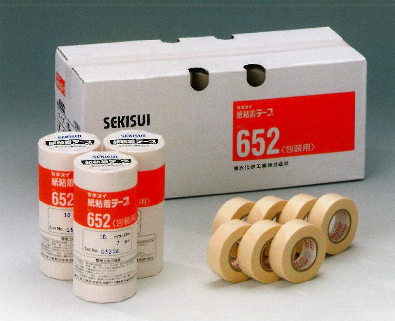 【積水化学工業】 セキスイ 紙粘着テープ 15mm×18m (白) 800巻入り