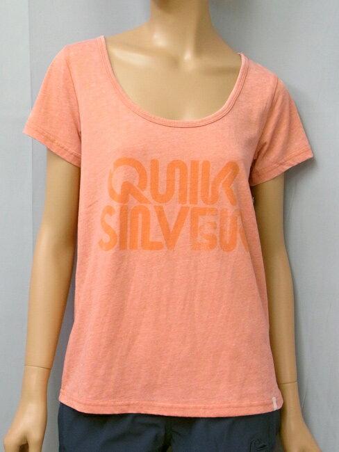【セール】【2013春夏モデル】 QUIKSILVER WOMEN'S (クイックシルバー) S/S TEE QUIKSILVER CLASSIC SCOOP TEE 半袖 Tシャツ レディース サーフィン SURFING