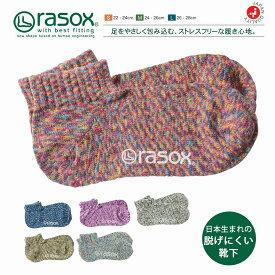 【メール便無料】rasox ラソックス 靴下 メンズ レディース ユニセックス 日本製 スプラッシュロウ L字型 アンクルソックス ショートソックス スニーカーソックス おしゃれ S/M/L 大きいサイズ 小さいサイズ カジュアル CA061AN39 ギフト プレゼント
