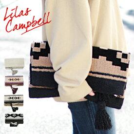 【Lilas Campbell クラッチバッグ トートバッグ】 リラキャベル エスニック タッセル 2WAYバッグ 大きめ 女性 レディース ギフト プレゼント