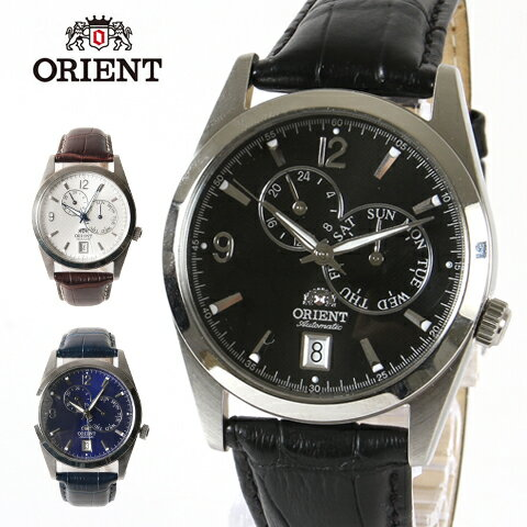 【腕時計 メンズ】ORIENT オリエント 逆輸入 海外モデル 本革 レザーベルト AUTOMATIC オートマチック 自動巻き 腕時計 男性 メンズ ギフト プレゼント