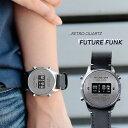 FUTURE FUNK フューチャーファンク FF102-SVBU-LBK クオーツ腕時計 メンズ レディース ペア ユニセックス シルバー/ブ…