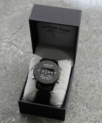 FUTUREFUNKフューチャーファンクFF102-BKYL-LBKクオーツ腕時計メンズレディースペアユニセックスシルバー/ブラックアナログデジタルウォッチギフトプレゼント父の日
