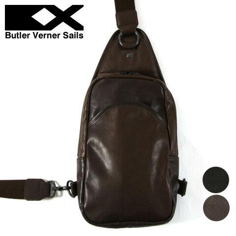 【ボディバッグ】日本製 本革 ポニーレザー ワンショルダー ボディバッグ メンズ レディース Butler Verner Sails バトラーバーナーセイルズ