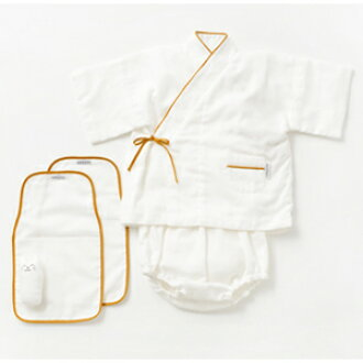 Take the 京和晒綿紗 じんべい set じんべい / sweat; *2 piece of / にぎにぎ baby gift [daitou]