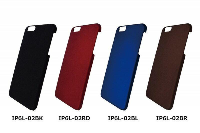 iPhone6sPlus/6Plus ハードシェルマット IP6L-02BK IP6L-02BL IP6L-02BR IP6L-02RD グルマンディーズ