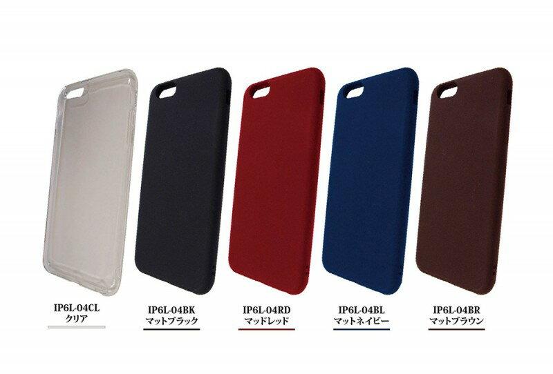 iPhone6sPlus/6Plus ソフトシェル IP6L-04BK IP6L-04BL IP6L-04BR IP6L-04CL IP6L-04RD グルマンディーズ