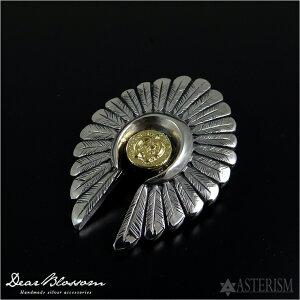 Dear Blossom(ディア ブロッサム)『Indian head K18 Naja metal/インディアンヘッド+K18ナジャメタル』(T-093)インディアンジュエリー メンズ シルバー ペンダント