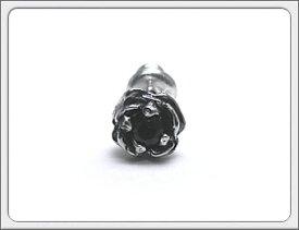 DEAL DESIGN(ディールデザイン)925シルバー ローズスタッズ ピアス全6カラー(キュービックジルコニア/ガーネット/アメジスト/サファイア/ピンクキュービック/ブラックキュービック)