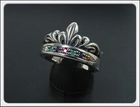 Shin's Sculpture(シンズ スカルプチャー)「Antique Tiara Ring MS(アンティーク ティアラ リング マルチストーン)」SILVER 925、ダイア、エメラルド、アメジスト、ルビー、エメラルド、サファイア、トルマリン / 7号〜23号 シルバー 925R-30MS