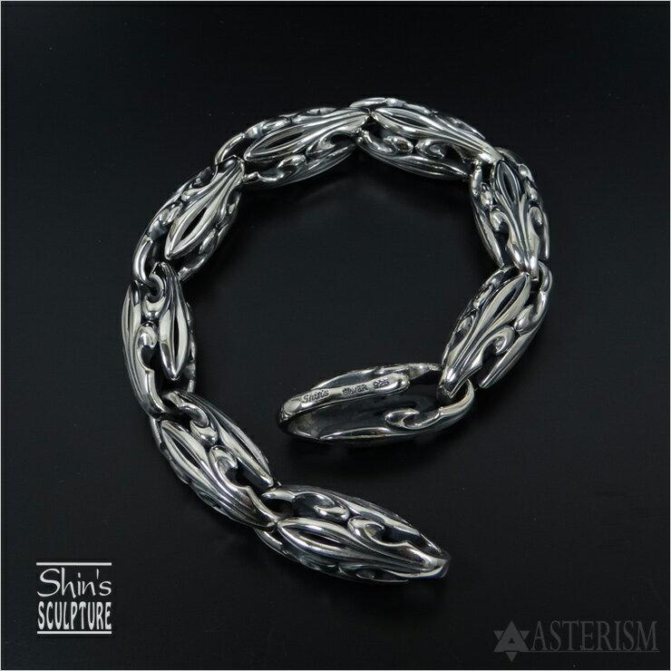 Shin's Sculpture(シンズ スカルプチャー) リリーコクーンブレスレット/M BR-16メンズ シルバーブレスレット